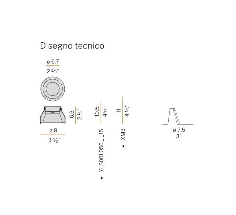 Joe  spot encastrable recessed light  panzeri xa2115  design signed nedgis 91633 product