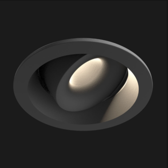 Spot encastrable juno mix deep round 2700k ra90 2 4w 315lm 44 reflector noir led o6cm h3 8cm doxis normal