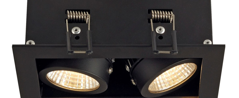 Spot encastrable kit kadux noir led l9cm h15cm slv normal