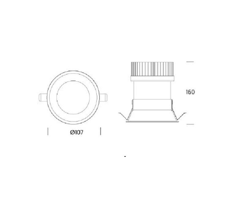 Kono 02 onok spot encastrable recessed light  onok kn02a20n36cbs  design signed nedgis 64154 product