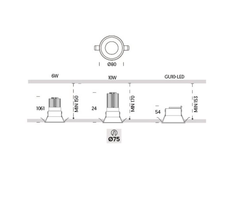 Kono 1 onok spot encastrable recessed light  onok kn01e10xxxxws  design signed nedgis 88643 product