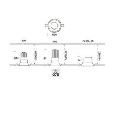Kono 1 onok spot encastrable recessed light  onok kn01e10xxxxws  design signed nedgis 88643 thumb