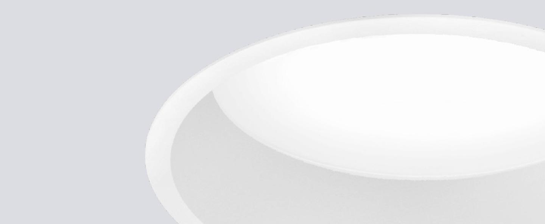 Spot encastrable kono plus blanc led 3000k 1870lm o23cm h2cm onok normal