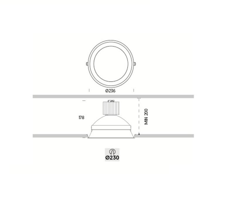 Kono plus onok spot encastrable recessed light  onok knopa10n39aws  design signed nedgis 68424 product