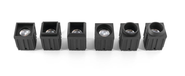 Spot encastrable led 3x qbini square in noir cadre blanc h5 5cm l4 4cm 2700k 40 modular normal