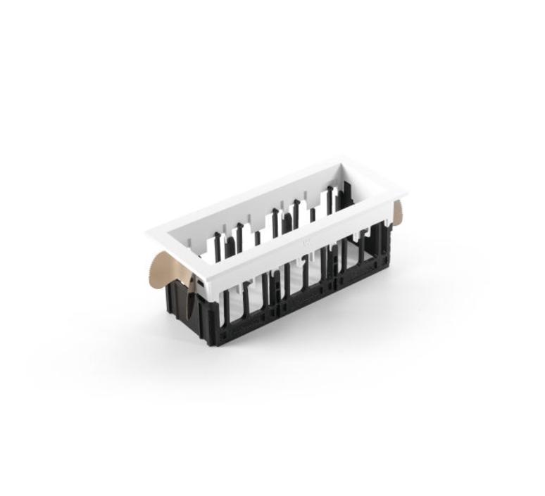 Qbini square in led studio modular spot encastrable recessed light  modular 3x14121132 14173009 14192032  design signed 34832 product