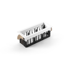 Qbini square in led studio modular spot encastrable recessed light  modular 3x14121132 14173009 14192032  design signed 34832 thumb