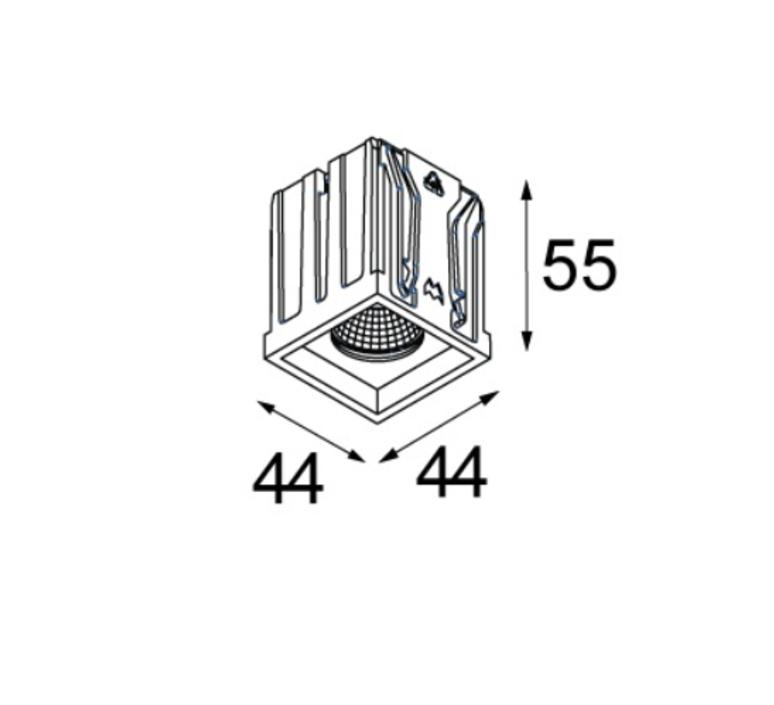 Qbini square in led studio modular spot encastrable recessed light  modular 3x14121132 14173009 14192032  design signed 34833 product