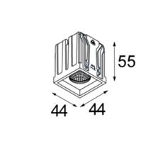 Qbini square in led studio modular spot encastrable recessed light  modular 3x14121132 14173009 14192032  design signed 34833 thumb