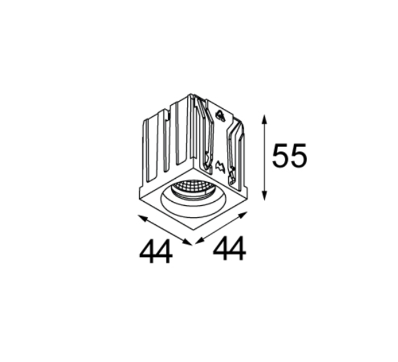 Qbini round in led studio modular spot encastrable recessed light  modular 4x14101109 14174032 14192032  design signed 34838 product