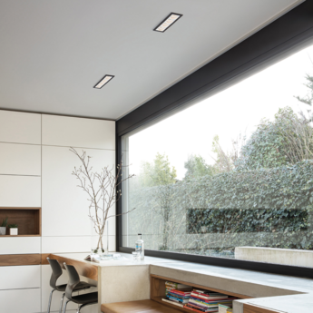 Spot encastrable led 4x qbini round in blanc cadre noir h5 5cm l4 4cm 2700k 40 modular normal