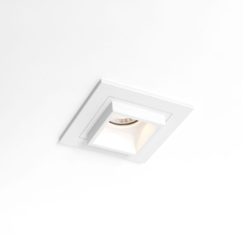 Spot encastrable led qbini square out blanc cadre blanc h5 5cm l4 4cm 2700k 40 modular normal