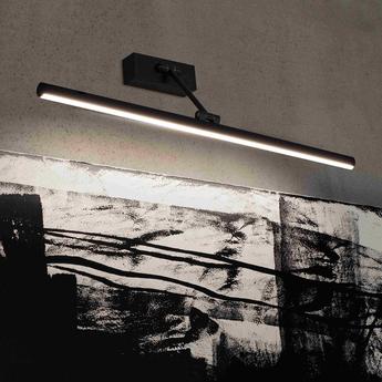 Spot encastrable magritte 3 noir led 3000k 750lm l60cm h4cm faro normal