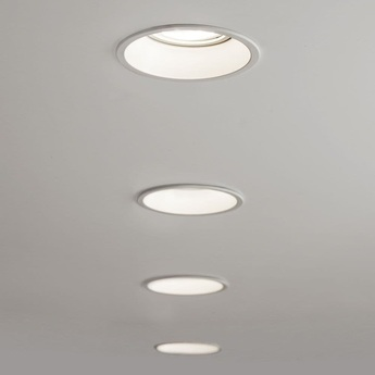 Spot encastrable minima round blanc led o10cm h15 8cm astro normal