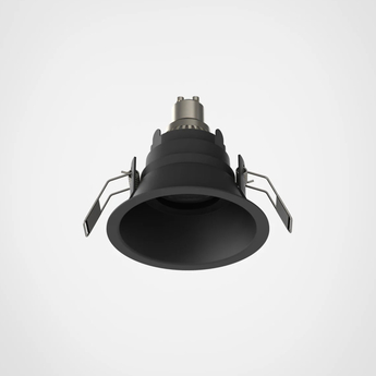 Spot encastrable minima slimline round fixed fire rated ip65 noir ip65 led k lm o10cm h7 8cm astro normal