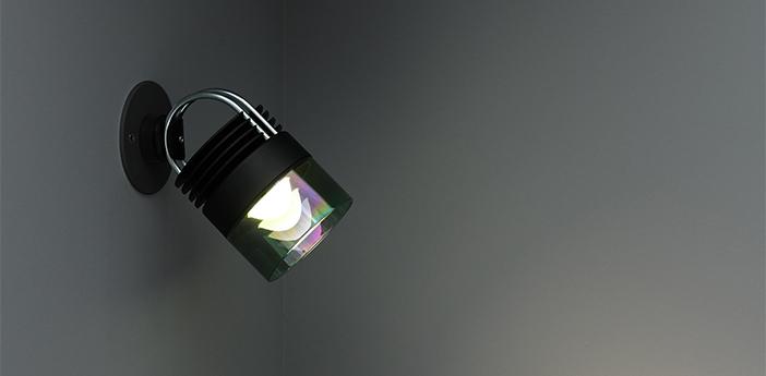 Spot encastrable mod reccessed noir et vert led 2700k 900lmlm o10cm h18cm sammode normal
