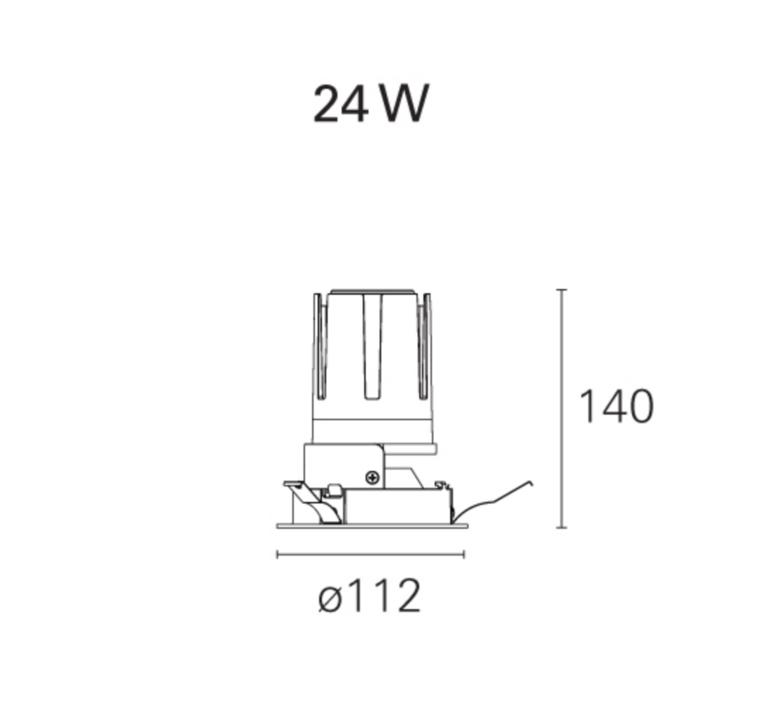 Nemo fix  spot encastrable recessed light  pan international rtl21121da  design signed 62307 product