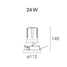 Nemo fix  spot encastrable recessed light  pan international rtl21121da  design signed 62307 thumb