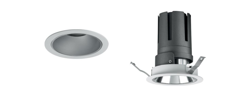 Spot encastrable nemo fix 3000k 2200 lm 24w 38 blanc led o11 2cm h14cm pan international normal