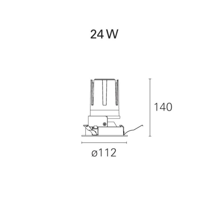 Nemo fix  spot encastrable recessed light  pan international rtl21121d  design signed 62283 product