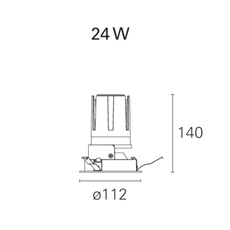 Nemo fix  spot encastrable recessed light  pan international rtl21321da  design signed 62290 thumb