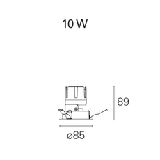Nemo fix  spot encastrable recessed light  pan international rtl21105da  design signed 62341 thumb