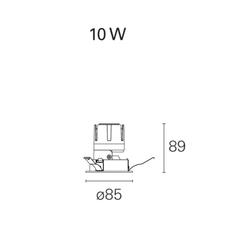 Nemo fix  spot encastrable recessed light  pan international rtl21305d  design signed 62313 thumb