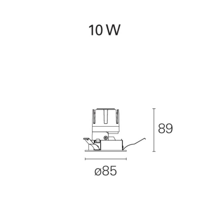 Nemo fix  spot encastrable recessed light  pan international rtl21405da  design signed 62332 product