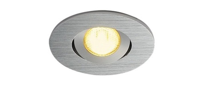 Spot encastrable new tria 45 simple rond cs aluminium ip44 led 3000k 143lm l5 2cm h3 6cm slv normal