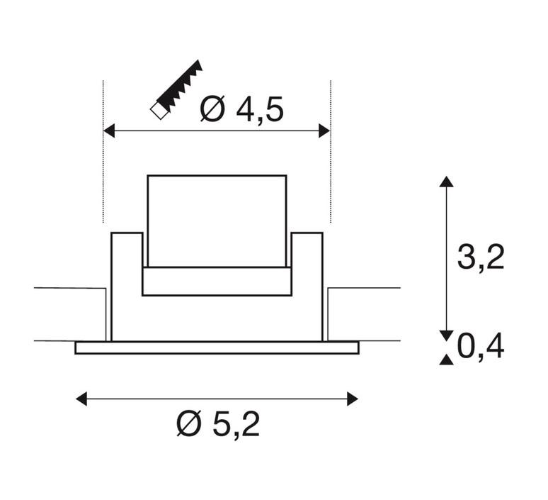New tria 45 simple rond cs studio slv spot encastrable recessed light  slv 113976  design signed nedgis 94380 product