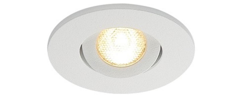 Spot encastrable new tria 45 simple rond cs blanc ip44 led 3000k 143lm l5 2cm h3 6cm slv normal
