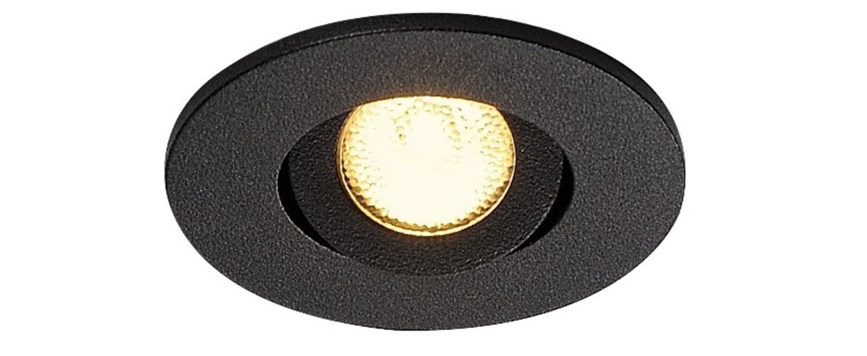 Spot encastrable new tria 45 simple rond cs noir ip44 led 3000k 143lm l5 2cm h3 6cm slv normal