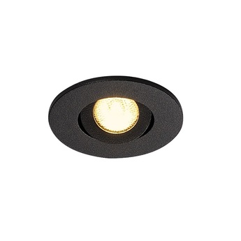 Spot encastrable new tria 45 simple rond cs noir ip44 led 3000k 143lm l5 2cm h3 6cm slv normal