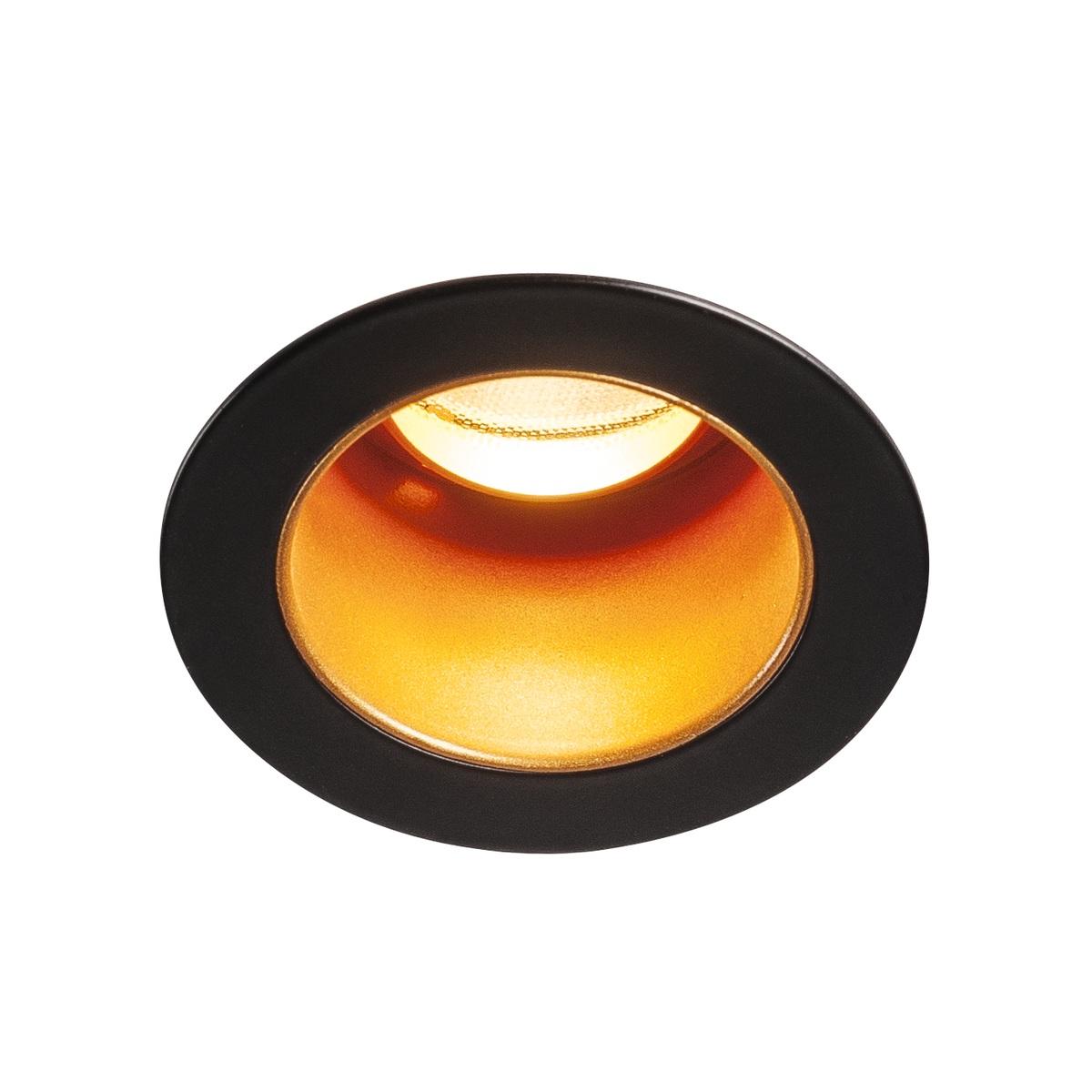 recessed light black gold led 3000kk 275lmlm o6cm h7 2cm slv