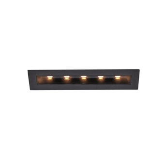 Spot encastrable noir led 3000kk 640lmlm l19 5cm h6 8cm slv normal