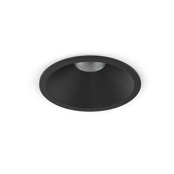 Spot encastrable one noir led 2700k 950lm o8 5cm h10cm om normal