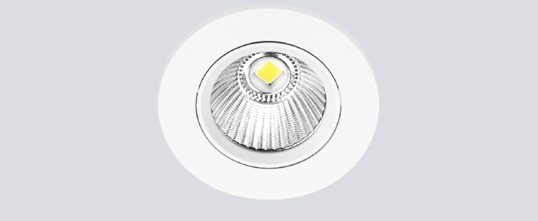 Spot encastrable onled blanc satine ip65led 3 000 k 650 lm o8 9cm h7cm onok normal