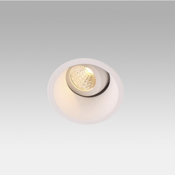 Spot encastrable orientable fox blanc led 2700k o5cm h6cm faro normal