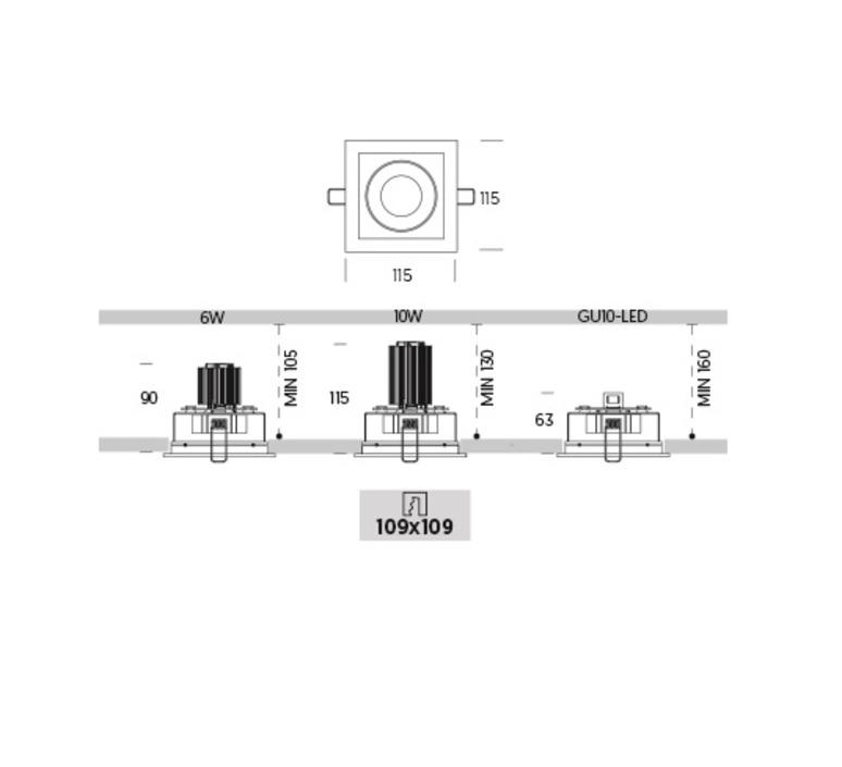 Ringo box 1 2 orientable onok spot encastrable recessed light  onok rf12e10xxxxwb  design signed nedgis 88669 product