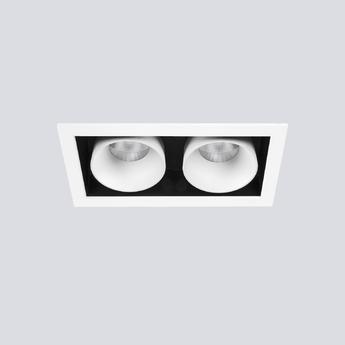 Spot encastrable ringo box 1 2 orientable noir et blanc l20 8cm h16cm onok normal