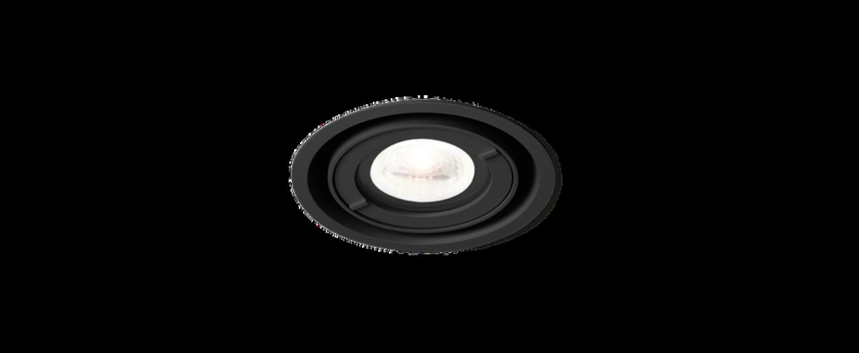 Spot encastrable rini par16 noir ip44 o8 4cm h16cm wever et ducre normal