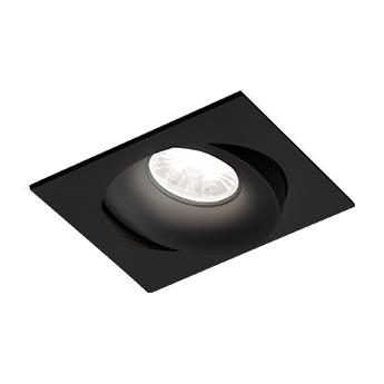 Spot encastrable ron 1 0 led noir led 3000k 570 770lm l11cm h8 5cm wever ducre normal