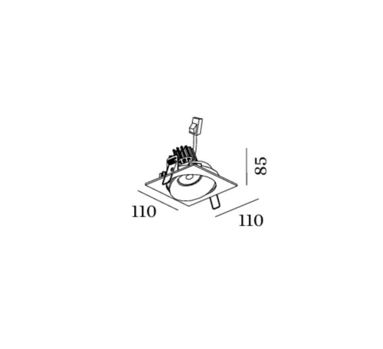 Spot encastrable ron 1 0 led orientable blanc l11cm p11cm h85cm 2700k 36 590lm wever ducre 50054 product