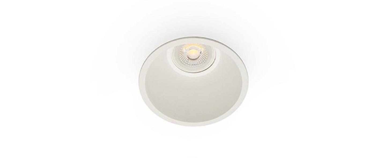 Spot encastrable salle de bain fresh ip44 blanc o90mm h60mm faro normal