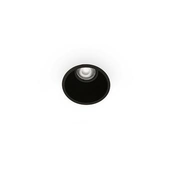Spot encastrable salle de bain fresh ip44 noir o90mm h60mm faro normal