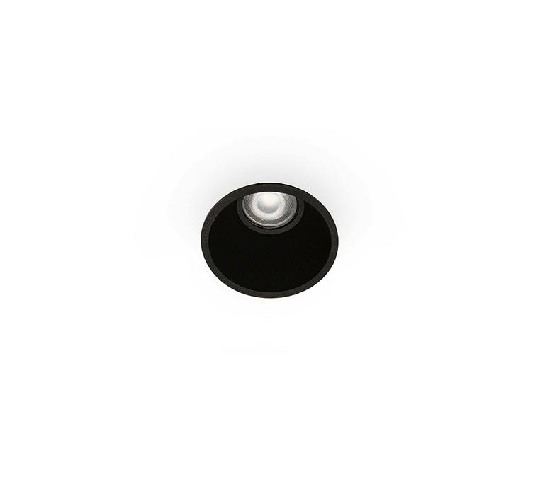 Spot Encastrable Salle De Bain Fresh Ip44 Noir O9cm H13cm