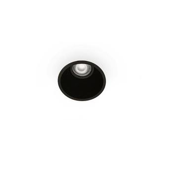 Spot encastrable salle de bain fresh ip65 noir o9cm h13cm faro normal
