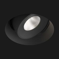 Spot encastrable sans collerette juno mix deep round 2700k 3 6w 380lm 44 reflector noir led o5 5cm h3 8cm doxis 73407 thumb