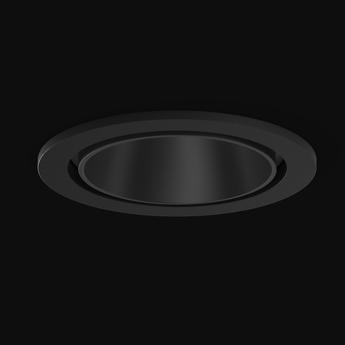 Spot encastrable sasso 60 rond noir led 3000k 949lm o6 3cm h4 8cm xal normal