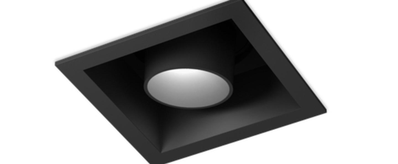 Spot encastrable sneak trim 1 0 noir led 3000k 400 540lm o8 5cm h9cm wever ducre normal